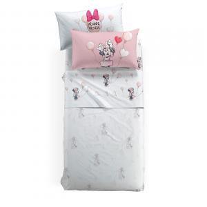 Lenzuola Caleffi completo lenzuolo singolo Disney MINNIE Love rosa