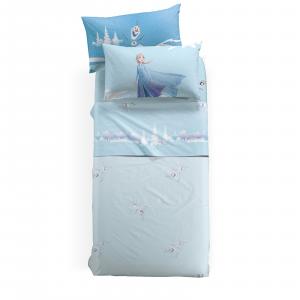 Lenzuola Caleffi completo lenzuolo singolo Disney FROZEN Inverno azzurro