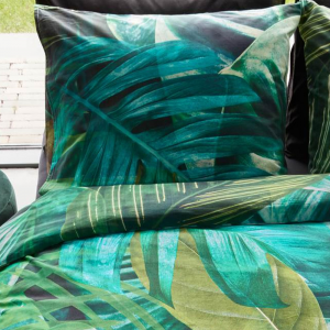 Lenzuola matrimoniali completo BEDDING HOUSE Botany foglie verde