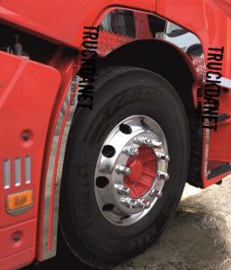 REANAULT TMontanti parafanghi anteriori  in acciaio Inox lucido (aisi 304)