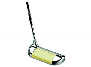 Stiloforo con memo golf in silver plated cm.14x5,5x15h