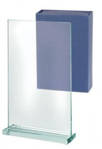 Trofeo rettangolare vetro