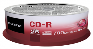 Sony CD-R 700MB/80min (1-48X) 25 pack spindle 700MB