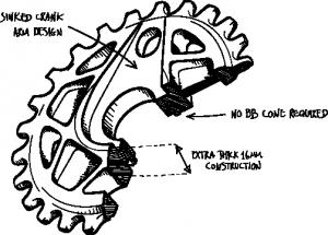 Flybikes Tractor XL Corona Bmx | Colore Aluminium