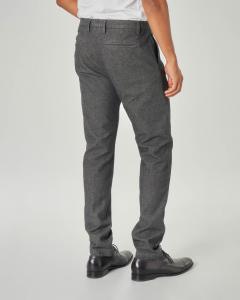 Pantalone chino grigio micro-armatura