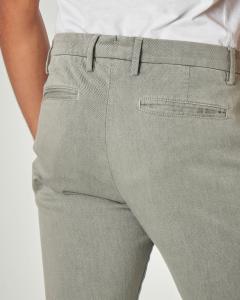 Pantalone chino grigio chiaro in drill di cotone