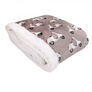 Plaid in pile 130x160 DAUNEX SCOOTER tortora effetto agnellato