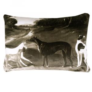 Trussardi decorative cushion with sepia gray PAINTINGS padding