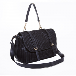 PEGGY GRUNGE WEAVING - BLACK