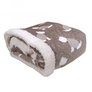 Plaid in pile 130x160 DAUNEX BARBONCINO tortora effetto agnellato