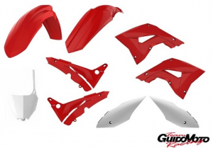 KIT CARENE RESTYLING ROSSE/BIANCHE HONDA CR 125/250 2002>2007 P90772