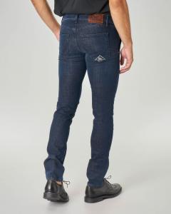 Jeans Weared3 lavaggio blu scuro e tasca america