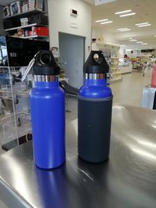 Borraccia in Acciaio - Tappo a Vite con guaina coibentante - capacità 500 ml - Promozione di Natale 2019