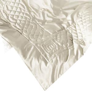 Plaid in velluto 130x170 LAURA BIAGIOTTI ALOE avorio coperta da divano