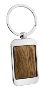 Portachiavi rettangolare con legno cm.8,5x3,5x0,8h
