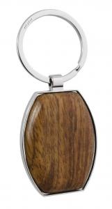Portachiavi sagomato con legno cm.8,5x3,8x0,8h