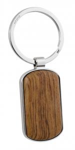 Portachiavi ovale con legno cm.8x3,5x0,8h