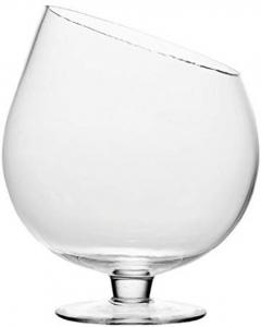 Coppa in vetro obliqua per confettata caramellata cm.22h diam.12