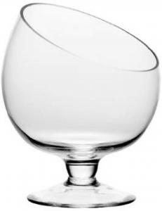 Coppa in vetro obliqua per confettata caramellata cm.15h diam.12