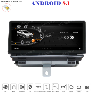 ANDROID 8.1 GPS WI-FI Bluetooth MirrorLink 2GB RAM 32GB ROM navigatore monitor 8.8 compatibile con Audi Q3 2013-2018