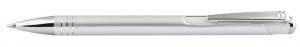 Penna in alluminio color argento satinato cm.14x1x1h