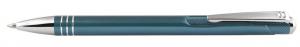 Penna in alluminio color petrolio cm.14x1x1h