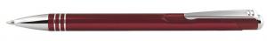 Penna in alluminio color bordeaux cm.14x1x1h