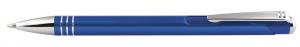 Penna in alluminio colore blu cm.14x1x1h