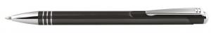 Penna in alluminio color nero cm.14x1x1h
