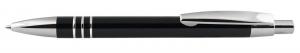 Penna in alluminio nera cm.14x1,1x1,1h