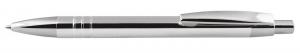 Penna in alluminio cromata cm.14x1,1x1,1h