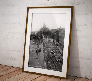 Costruzione di via della Conciliazione, Roma, 1937