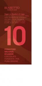 Tavoletta 10: Forastero Nacional Ecuador pura origine 75%