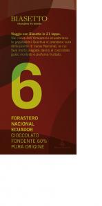 Tavoletta 6: Forastero Nacional Ecuador pura origine 60%