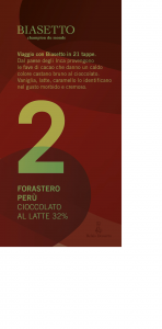 Tavoletta 2: Forastero Perù cioccolato al latte 32%