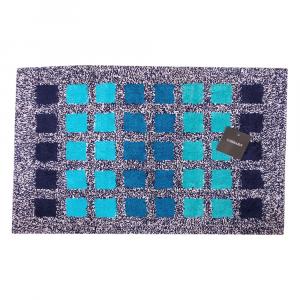 Tappeto da bagno in spugna Carrara MUSEUM quadretti blu - 2 misure