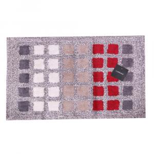 Tappeto da bagno in spugna Carrara MUSEUM quadretti rosso - 2 misure