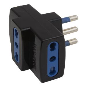 Poly Pool PP0452.1 Tipo L (IT) Universale Nero, Blu adattatore per presa di corrente
