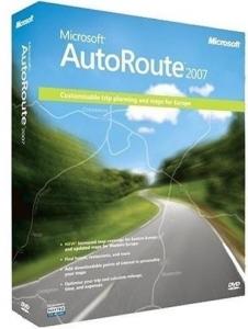 Microsoft AutoRoute 2007 Euro, DVD, Win32, IT