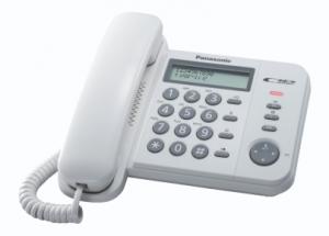 Panasonic KX-TS560EX1W Identificatore di chiamata telefono