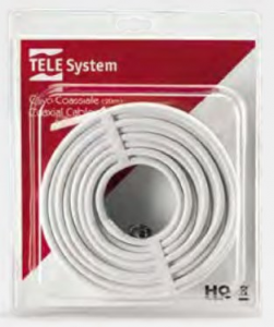 TELE System 58040006 cavo coassiale F 20 m Bianco