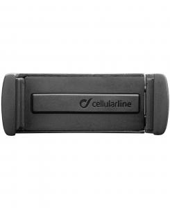 Cellularline Handy Drive - Universale Porta telefono da auto universale, discreto ed elegante Nero