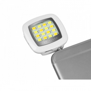 SBS TEFLASHUNIV 3.5mm/Micro-USB LED Argento, Bianco flash per cellulare