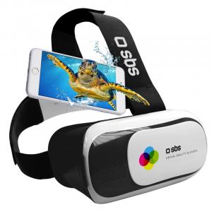 SBS TEVRBOX360 Visore Visore collegato allo smartphone Nero, Bianco