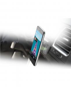 Cellularline Handy Force - Universale Supporto auto magnetico stabile e sicuro Nero