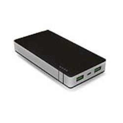 Celly ALU Polimeri di litio (LiPo) 10000mAh Alluminio, Nero batteria portatile