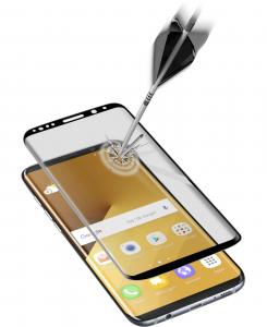 Cellularline Second Glass Ultra Curved - Galaxy S8 Plus Vetro temperato curvo e ultra protettivo Trasparente. Nero