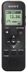 Sony ICD-PX370 Memoria interna e scheda di memoria Nero dittafono