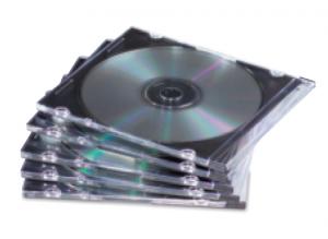 Fellowes 9833801 custodia CD/DVD Custodia Jewel 1 dischi Nero, Trasparente
