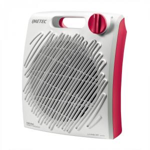 Imetec C2-200 4014 stufetta elettrica Fan electric space heater Interno Rosso, Bianco 2200 W